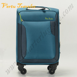 Inside trolley high quality blue suitcase luggage
