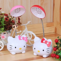 HGhomeart The new lamps creative cartoon cat charming small rechargeable reading lamp eye folding table lamp home