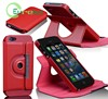 Flip style stand function smooth leather case for IPhone 5