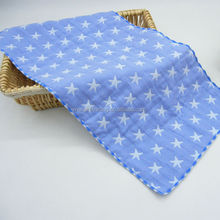 double layer gauze fabric baby handkerchief