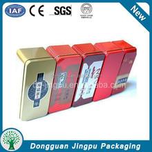 Fancy factory directly rectangle tin tea metal can tea box