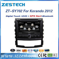 ZESTECH China Factory OEM Corex A8 RDS 3G V-10disc Powerful CPU 2012 Car DVD Gps Navigation system for Ssangyong Korando