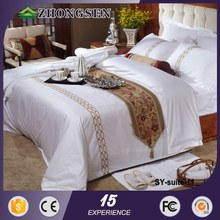 100% cotton 4pcs embroidery bed sheet 2012 year new design tc new fashion hotel workwear