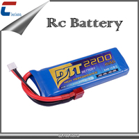 11.1V 2200mAh 3cell 65C rc helicopter lipo battery with long battery life