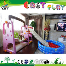 China kid indoor plastic swing and slide set