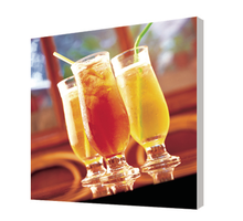 wine cup photos printed on canvas