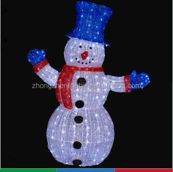 Ce wholesale outdoor christmas light up standing snowman for Outdoor light up ornaments