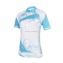 Quickdry breathable women's summer short sleeve cycling jersey
