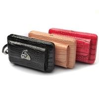 travel pu hard case wallet for women