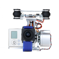 Quadcopter CNC FPV BGC 2 Axis w/ Controller Brushless Gimbal for GoPro 3 Camera DJI Phantom 1 2 Walkera X350 Pro