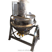 industrial 500 liter steam jacketed cooking kettle