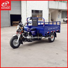 Chinese Blue Color Cargo Passenger Double Usage 3 Wheels Motorcycle Three Wheels For Sale