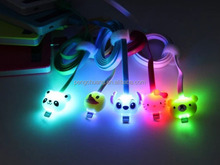 Visible LED Light USB Data Sync Charger Cable Cord for smart phone