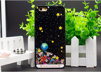 Custom Liquid Glitter Case PC Hard Back Cover + TPU Frame Bumper Case for iPhone 6sS