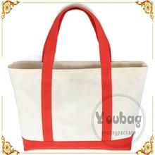 Eco-friendly canvas tote bag blank cotton canvas bag promotional canvas shoulder bag
