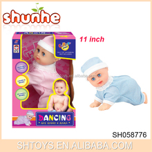 Top selling B/O baby crawling doll with sing for wholesale