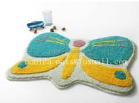 Butterfly Cartoon Animal Shaped Floor Mat/cute animal rug for children