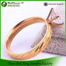 316l direct factory price stainless steel 3 carat diamond ring price