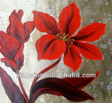 flower oil painting for room decoration wall art