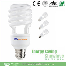 2015 new half spiral energy saving bulb e27 low price CE/RoHs China factory