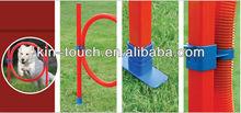 Dog Agility Set: Hoop Jump, High Jump, Tunnerl, Slalam Course