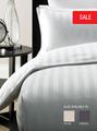 300TC 20% poliéster 80% algodón dobby stripe sábana ajustable y tela para el hotel ropa de cama