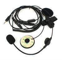 Motorcycle Helmet Headset Microphone for YAESU walkie talkie Vertex VX-6R/ 7R VX-6E/7E VX-120 VXA-700 Radios 1 Pin 3.5mm