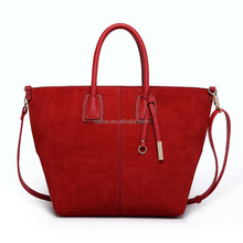 2015 NaBoo Nubuck Leather fashion women tote bag High Capacity