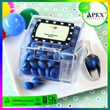 Transparente doces acrílico distribuidor box design for loja de varejo / supermercado