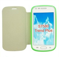 2014 Hot selling cell phone leather case for galaxy trends plus s7580 s7562 s7560