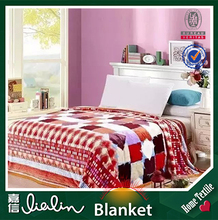 new production grid style 100% polyester printing fabric brand names home textile mora blanket