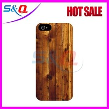 Natural Wooden Cover Case For Samsung S4, Hard PC Wood Case Cover For Galaxy S4