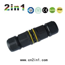 PG11 2Pin Waterproof Connector IP68 30A Nylon Screw Electric Cable Wire Butt type