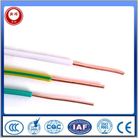 OEM color 99.99% purity copper electrical wire and cable with ISO9001 certificate