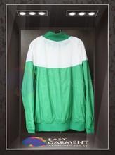 Tailor made Hot sales 2015 Logo Printing White Green Sport Jacket