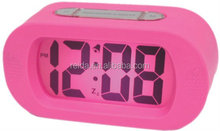 Multifunction digital alarm table Clock with Silicon Case& LCD clock&silicon alarm clock&digitalcalendar