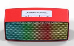 Buletooth V4.0 best price led melody bluetooth speaker blue shenzhen supplier