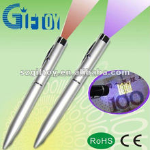 LED lighting ballpoint money checking pen