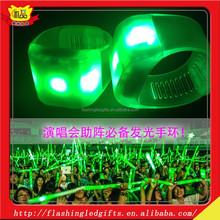 Colorful led plastic bracelet DIY your own designs 2015 concert decorations led plastic bracelet wholesale light up plastic band