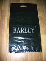 2015Die Cut Handle reusable plastic shopping bag,LDPE black die cut plastic bags