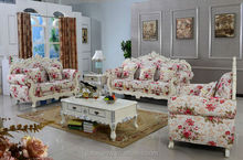 DXY-Elegant design cloth sofa-fashionable flower patterns sofa for living room 3048#