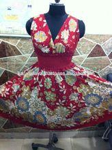 moda casual de vestir de algodón