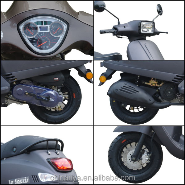 50ccm roller f r erwachsene vespa stil gas roller mit ewg. Black Bedroom Furniture Sets. Home Design Ideas