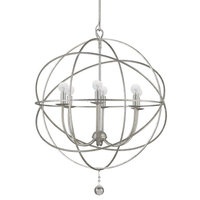 iron wire globe mini chandelier /iron pendant light with candle socket