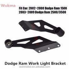 "Pair Dodge RAM 1500 2500 3500 50"" Straight LED Work Light Bar Roof Mount Brackets"