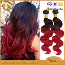 free weave hair packs, cheap brazilian hair bundles, wholesale two tone ombre hair extension