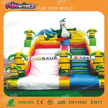 high quality cheap 0.55mm PVC inflatable water playground slide