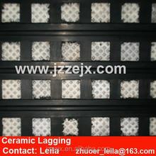 Belt Conveyor Drive Pulley Rubber Ceramic Lagging