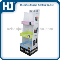 Mobile phone computer accessory cardboard pallet display for sales/mouse carton floor display