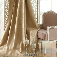 oriental 100% Polyester curtain Fabric plain embossing linen blackout curtain fabric